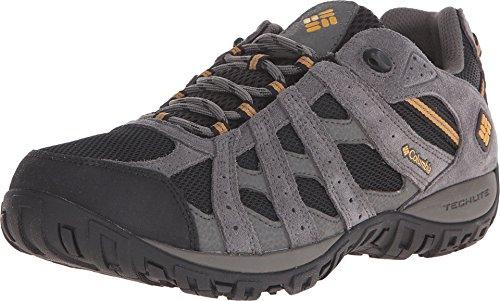 Columbia Men's Redmond Waterproof Hiking Shoe, Black, Squash, 9.5 D US best to buy