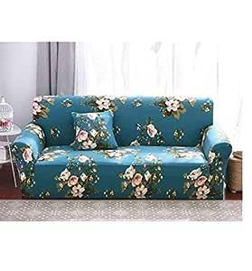 Three Seater Sofa SlipCover Blue/Beige/Pink 190-230 centimeter