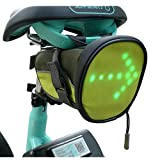 Teeo LED Cycling Saddle Bag w/Direction Indicator Light (Under Seat Mounted) Waterproof Outdoor Road Bike Travel Pack | Wireless Remote Control | Directional Turn Signals