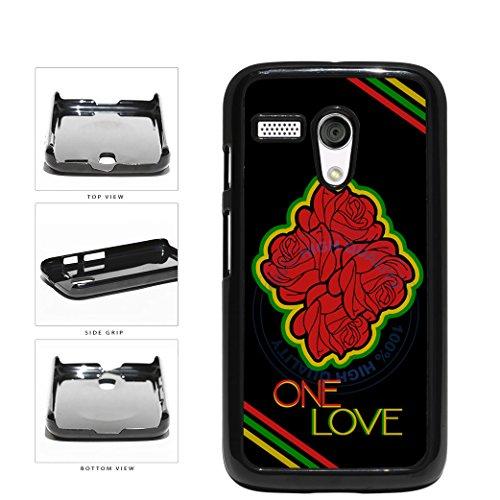 BleuReign(TM) One Love Rose Heart Rasta Colors Plastic Phone Case Back Cover For Motorola Moto G (Motorola Moto G Case Rasta)