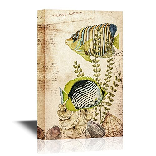 Vintage Style Tropical Fish Under The Sea