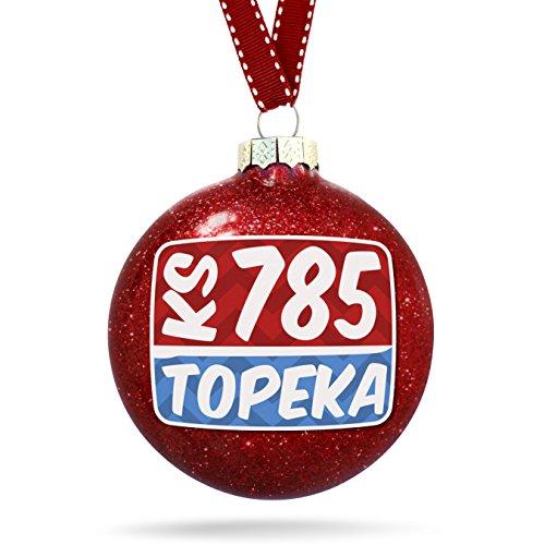Christmas Decoration 785 Topeka, KS red/blue - Topeka Glass Ks