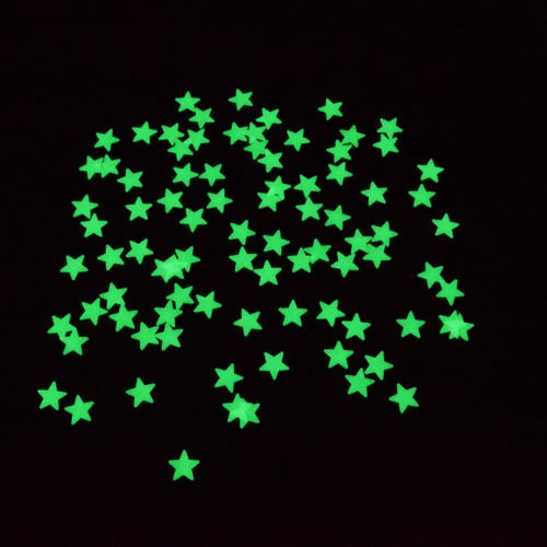 Oh! 200pc Lucky Stars Luminous Sticker Star Glow In The Dark After The Sun Light