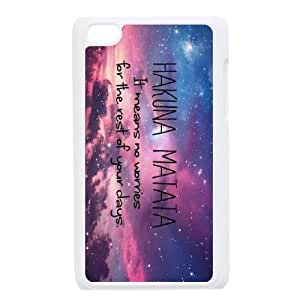 [QiongMai Phone Case] FOR IPod Touch 4th -Hukuna Matata Quotes-IKAI0447281