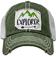 Funky Junque Dad Hat Unisex Mesh Trucker Distressed Vintage Patch Baseball Cap
