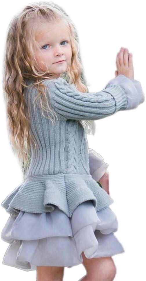 Bestow Las niñas de los niños de Punto suéter de Invierno Vestido ...