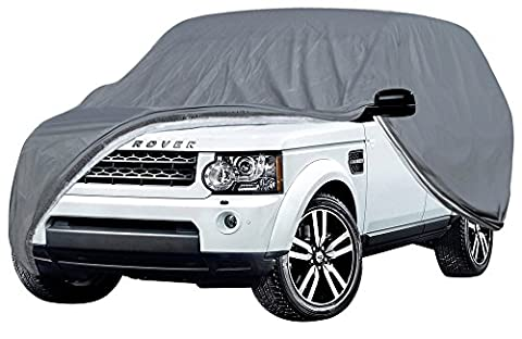 OxGord Executive Storm-Proof Auto Cover - 100 Water-Proof 7 Layers -Developed for Any All Conditions - Ready-Fit Semi Glove Fit fro SUV, Van, and Truck - Fits up to 206 - 1977 Gmc Van