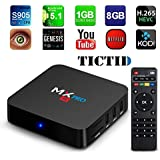 TICTID MX Pro Amlogic S905 Chipset Android 5.1 Lollipop OS Quad Core 1G/8G 4K Google Streaming Media Player TV Box with WiFi, HDMI, DLNA