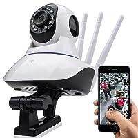 Câmera IP Sem Fio 360° 3 Antenas HD WiFi RJ45 Visão Noturna Alarme - Luatek