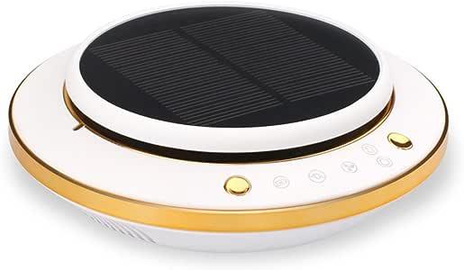 ZZG Purificador de aire del coche multifuncional solar inteligente auto casera máquina de aromaterapia de doble ...