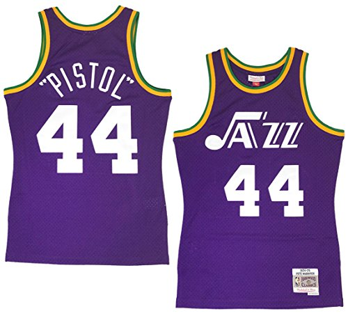 Mitchell & Ness Pistol Pete Maravich New Orleans Jazz NBA Throwback Jersey (Pete Maravich Nba)