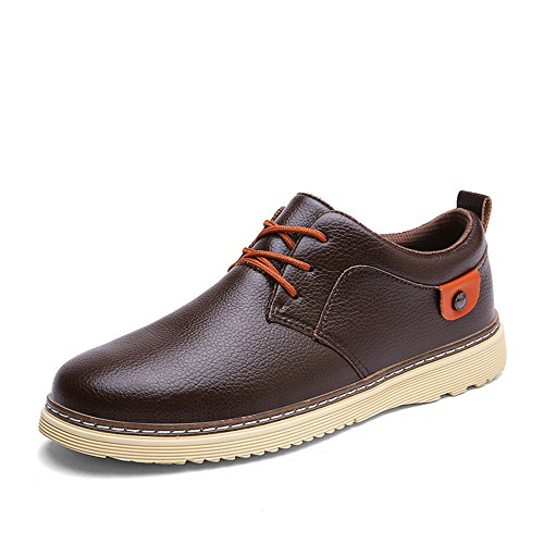 Men's Shoes Feifei Winter Fashion Casual Leather Shoes 4 Colors (Color : 04, Size : EU40/UK7/CN41)