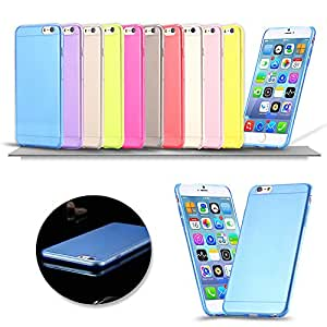 1000Pcs DHL 10Colors 4.7'' Ultra Thin 0.3mm TPU Clear Transparent Case For iPhone 6 6s Slim Back Cover for iphone6 Best Sale --- Color:Yellow