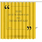 Zoyon Shower Curtain best bible quotes about ability to see the kingdom of god christian sayings for bible study Graphic Print Polyester Fabric Bathroom Decor Sets with Hooks 72'' W x 72'' L
