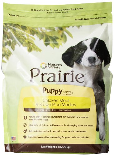 Nature's Variety Prairie Puppy Chicken Meal & Brown Rice Medley Dry Dog Food, 5 lb. Bag