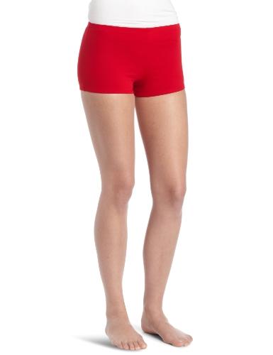 Danskin Women's Boy Cut Short, Red, X-Large