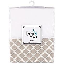 Kushies Baby Ben & Noa Percale Crib Skir...