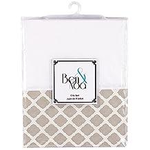 Kushies Baby Percale Crib Skirt, Linen Lattice