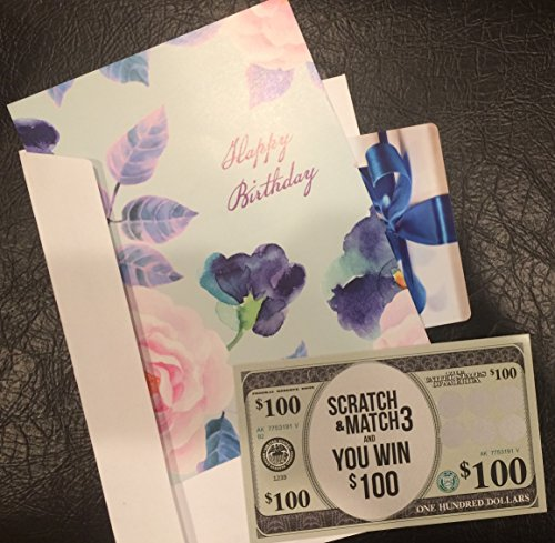 Gag Gift Card Ticket - Fake Lotto Design - Fun Way to Give a $100 Gift Card (Pair with $100 Gift Card)