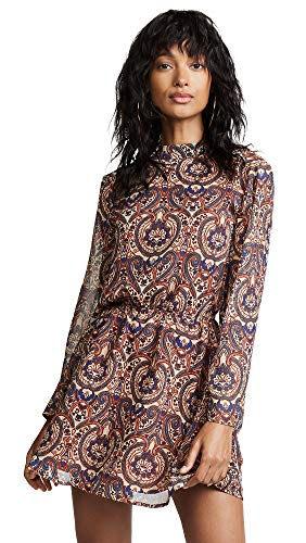 cupcakes and cashmere Women's Malory Star Paisley Dress, Cognac, Small ()