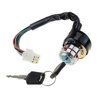 WOOSTAR Ignition Key Switch 6 Wires for 90cc 125cc 150cc Gokart ATV Dirt Pit Bike: Automotive