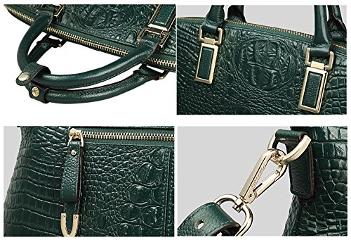 Designer green green Dark SAIERLONG Shoulder Bags Dark Handbags Genuine Womens Cowhide Ladies Leather 5xwI7qR