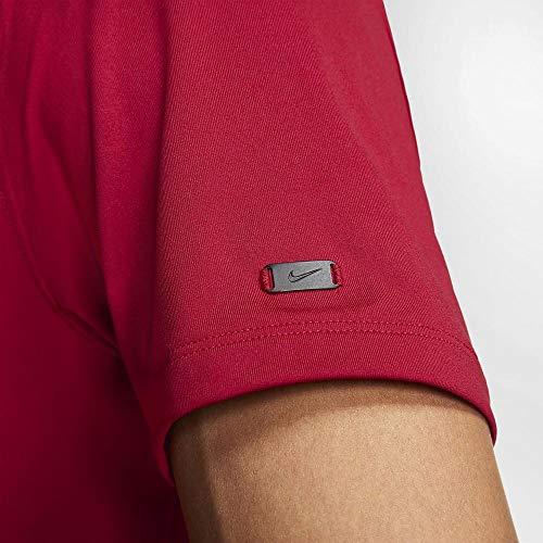 NIKE TW Vapor Dri Fit Mock OLC Golf Polo 2019 Gym Red Large