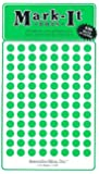 """Medium 1/4"""" removable Mark-it brand dots for maps, reports or projects - green"""