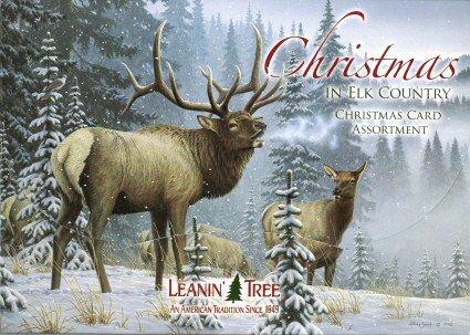 Navidad en país de alce 20 Tarjeta de Navidad Surtido ...