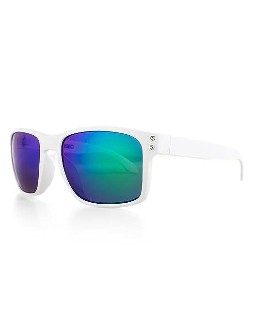 Distressed Superior Sonnenbrille viele Farben (weiss-blau-grün-verspiegelt) 5KqGPkB