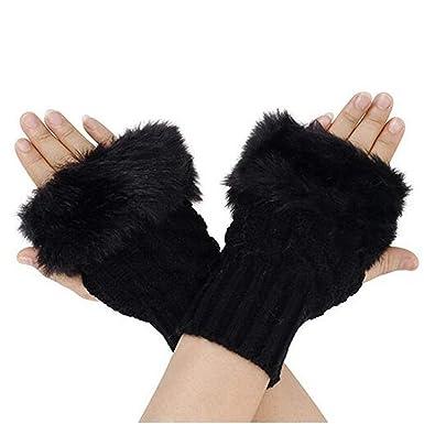 bello e affascinante seleziona per ufficiale la moda più votata Beileer Guanti Donna Invernali -Inverno Guanti senza dita maglia lunghi  Manicotti