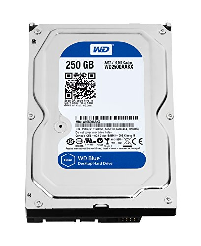 WD Blue 250GB Everyday PC Desktop Hard Drive: 3.5 Inch, SATA 6 Gb/s, 7200 RPM, 16MB Cache (WD2500AAKX) (Old Model) by Western Digital