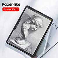 Elikliv Paper-Like Anti Glare Matte PET Screen Protector Cover for iPad pro 9.7inch 10.5inch 11inch 12.9inch(for ipad pro 2018new 11inch)