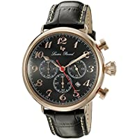Lucien Piccard Men's LP-72415-RG-01 Trieste Analog Display Quartz Black Watch