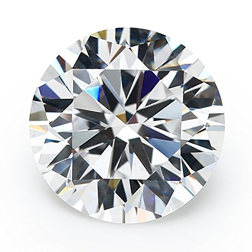 100PCS 5.0MM 5A Round Machine Cut White Cubic Zirconia Stone Loose CZ Stones (5.0mm)