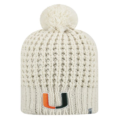 Top of the World Miami Hurricanes Official NCAA Uncuffed Knit Slouch 1 Beanie Hat 476872