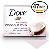 Cheap (PACK OF 47 BARS) Dove Beauty Soap Bar: COCONUT MILK. Protects Your Skin's Natural Moisture. 25% MOISTURIZING LOTION & CREAM! Great for Hands, Face & Body! (47 Bars, 3.5oz Each Bar)
