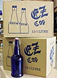 32 oz. EZ Cap Cobalt Blue Glass Beer Bottles-2PK