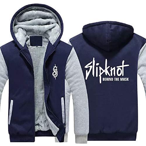 Slipknot Hooded Sweatshirt Corey Taylor Cosplay Zip Up Jacket Thick Hoodie -