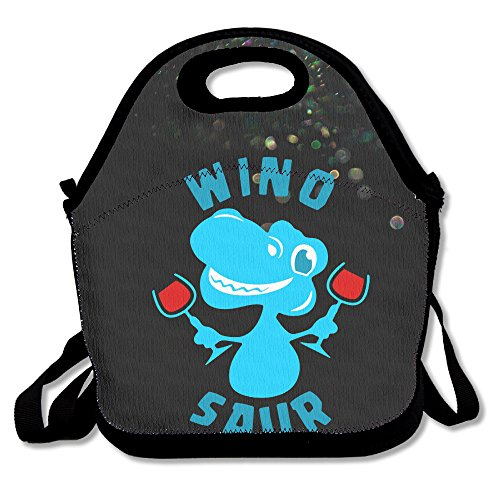 Wino Costume (Bakeiy Wino Saur Lunch Tote Bag Lunch Box Neoprene Tote For Kids And Adults For Travel And Picnic School)