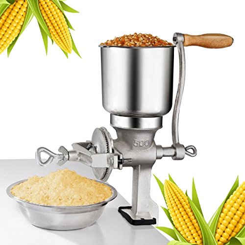 APMarket Manual Corn Wheat Coffee Grain Grinder Mill with Stainless Steel Parts for Home and Commercial Use