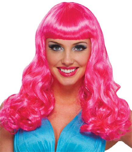 Party Girl Hot Pink Wig