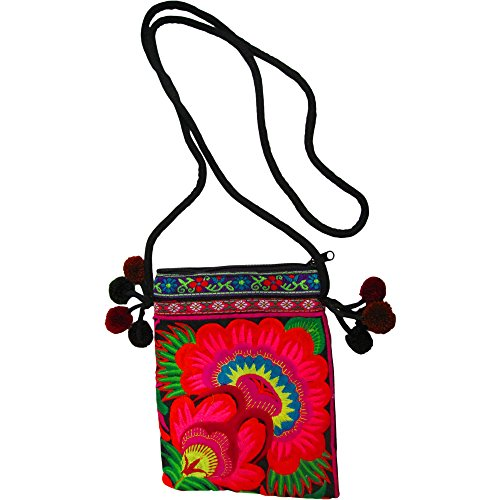 Cotton Boho Bag Small Handmade Pocketbook Ethnic Purse Floral Embroidered HtpwrnH4q1