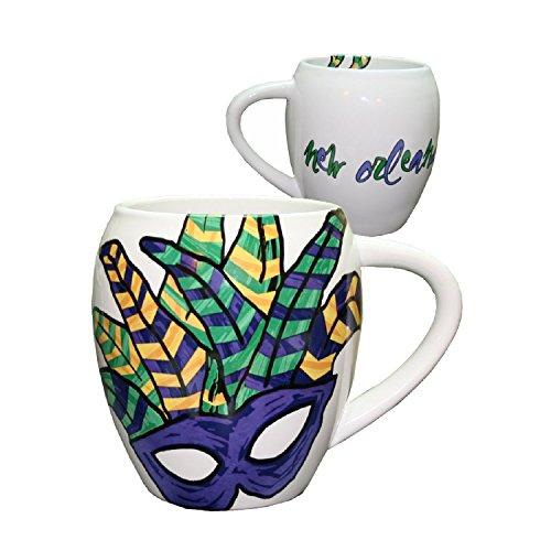 - Abstract Feather Mardi Gras Mask Coffee Mug