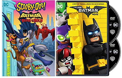 Brave, Bold, Hungry, Lego Bricks: The Lego Batman Movie (Special 2- Disc Edition) + Scooby-Doo & Batman The Brave and the Bold (DC Comics Animated Double Feature DVD Bundle)