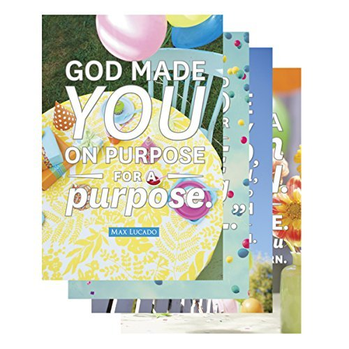 DaySpring Birthday Boxed Greeting Cards, 12 Count with Embossed Envelopes, Max Lucado, God Made You (53682) by Dayspring