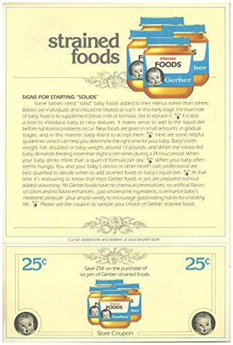 Gerber Baby Food Coupon Packet 1982 NO Expirations Dates ()