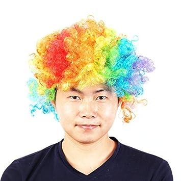 Dressing peluca eDealMax Unisex de la Fiesta de Halloween Cosplay del enrollamiento encima del peinado de
