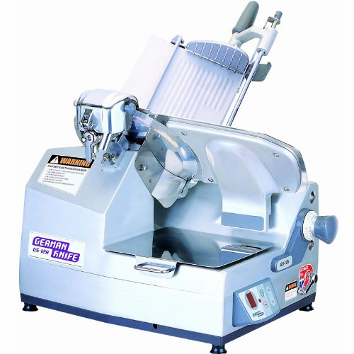 German Knife GS-12A Automatic Meat Slicer- 9 Speed Chute