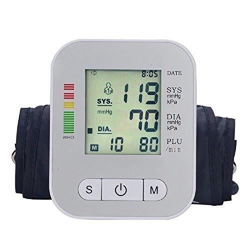 Automatic Digital Sphygmomanometer Wrist Cuff with LCD Screen - WHITE - 9
